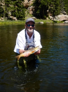 This fat brown trout was caught on public lands on the South Platte, which the author has fished since childhood. Photo by Matt Vincent