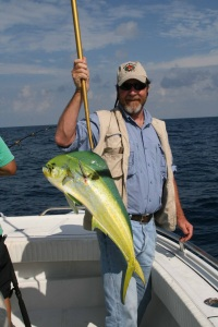 Matt Vincent with mahi mahi