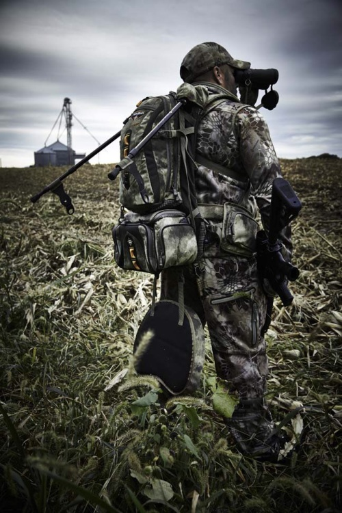 The Tenzing Predator Pack sports 2,200 cubic inches of storage space in a true backpack with main and sub compartments, a separate detachable electronics or accessory pack, and zippered front/side compartments with centerfire cartridge and shot shell loops, and a foldout boot to carry a firearm. Photo courtesy of www.tenzingoutdoors.com